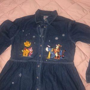 Vintage Disney Store Winnie The Pooh Denim Dress